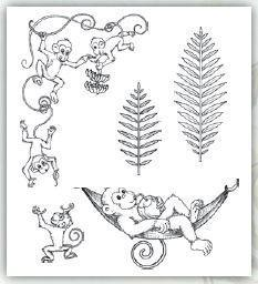 hcpc-3778 - Monkeying Around Cling Stamp Set