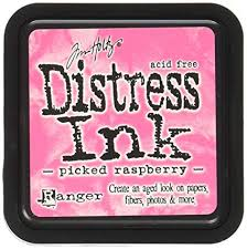 Ranger Distress Ink - Picked Raspberry Mini