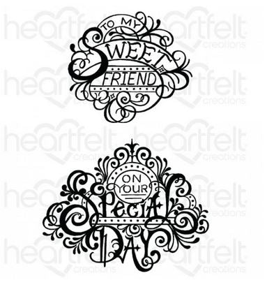 HCPC-3935 Fancy Special Day Cling Stamp Set