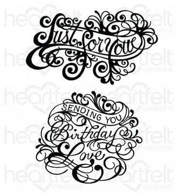 HCPC-3936 Ornate Just for You Cling Stamp Set