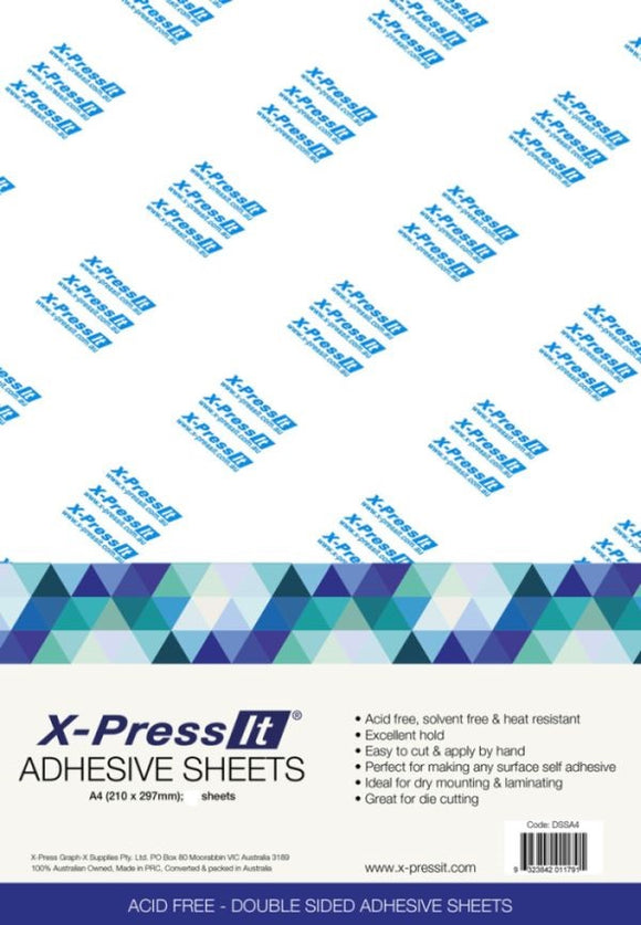 X-Press it  Double Sided Adhesive Sheet - A4 Single Sheets