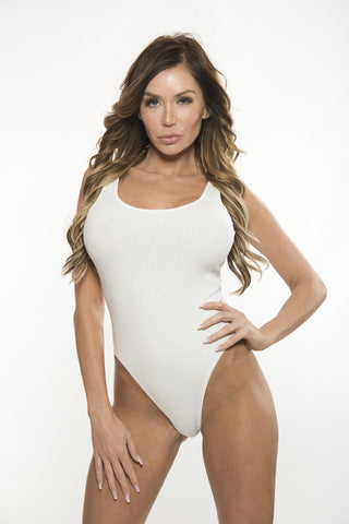 TeeZees Bodysuit in White