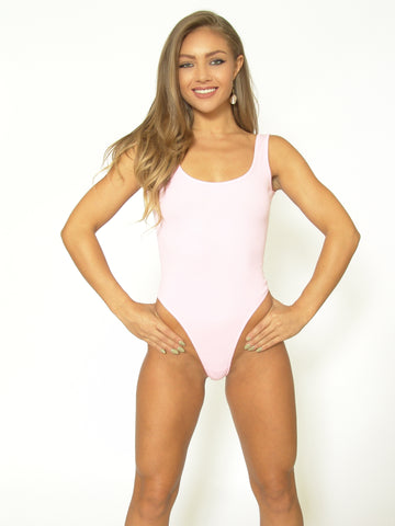 TeeZees Thong Leotard in Pink