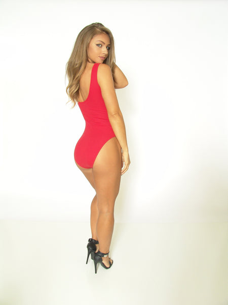 TeeZees Bodysuit in Red
