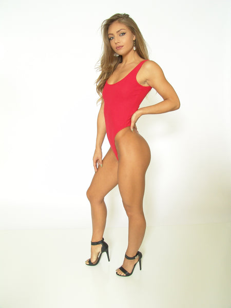 TeeZees Thong Leotard in Red