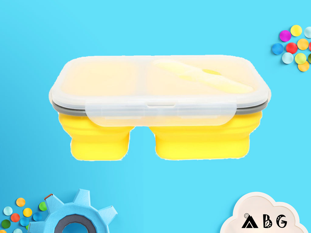Collapsible Silicone Lunch Box - Adventure Baby Gear