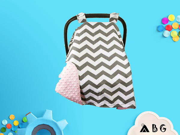 Chevron Car Seat Canopy - Adventure Baby Gear