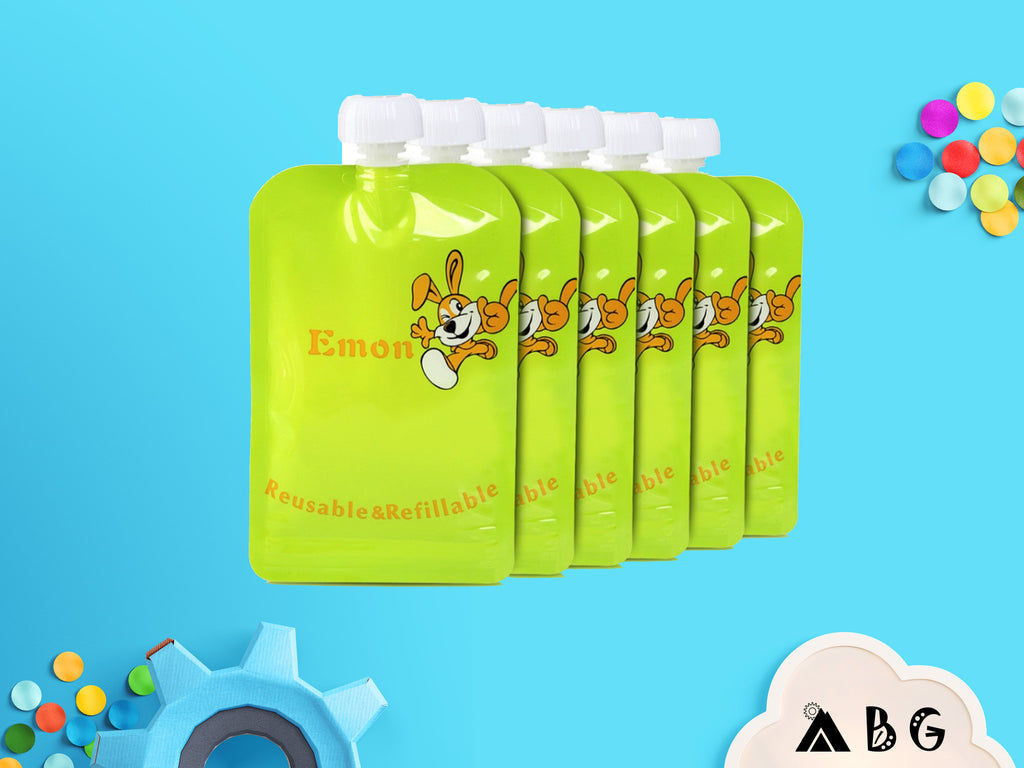 8pcs Reusable Baby Food Pouch - Adventure Baby Gear