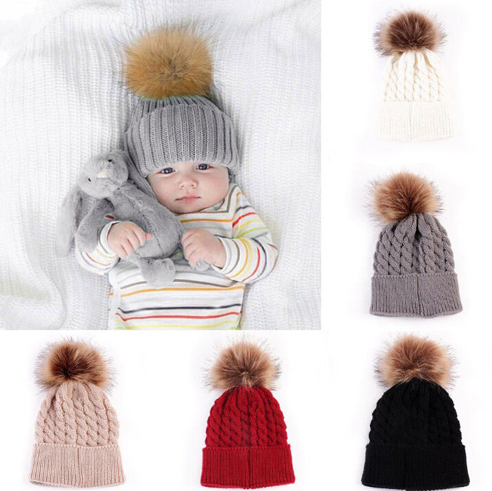 Knitted  PomPom Toque - Adventure Baby Gear
