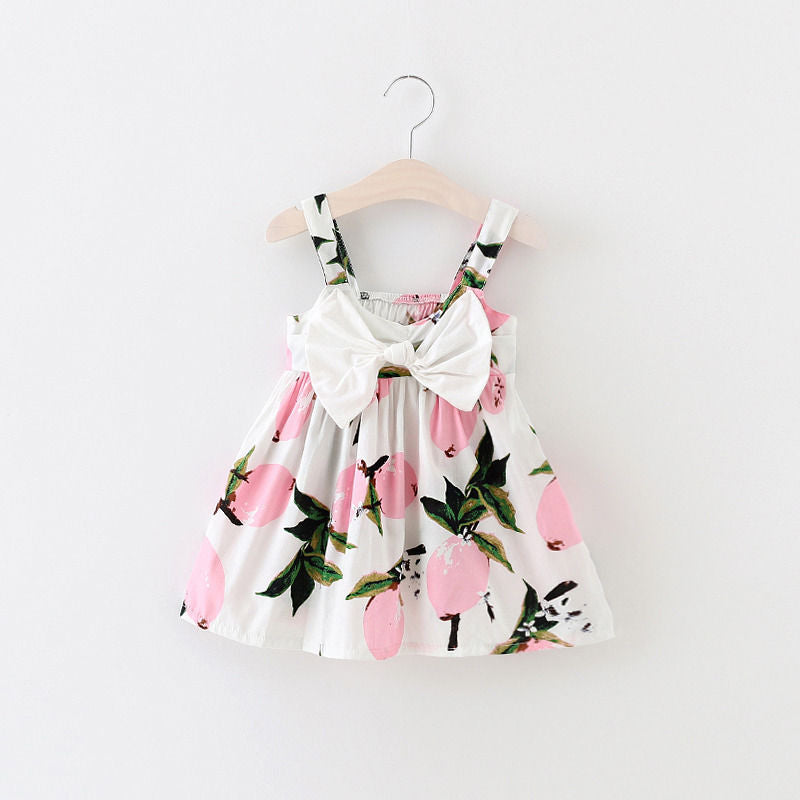 Pink Lemonade Bow Dress - Adventure Baby Gear