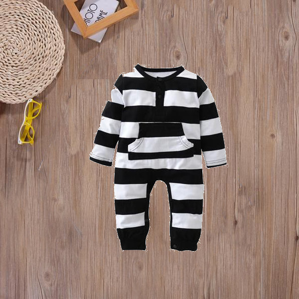 Monochrome Striped Onesie - Adventure Baby Gear
