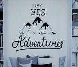 Say YES to Adventure Decal - Adventure Baby Gear