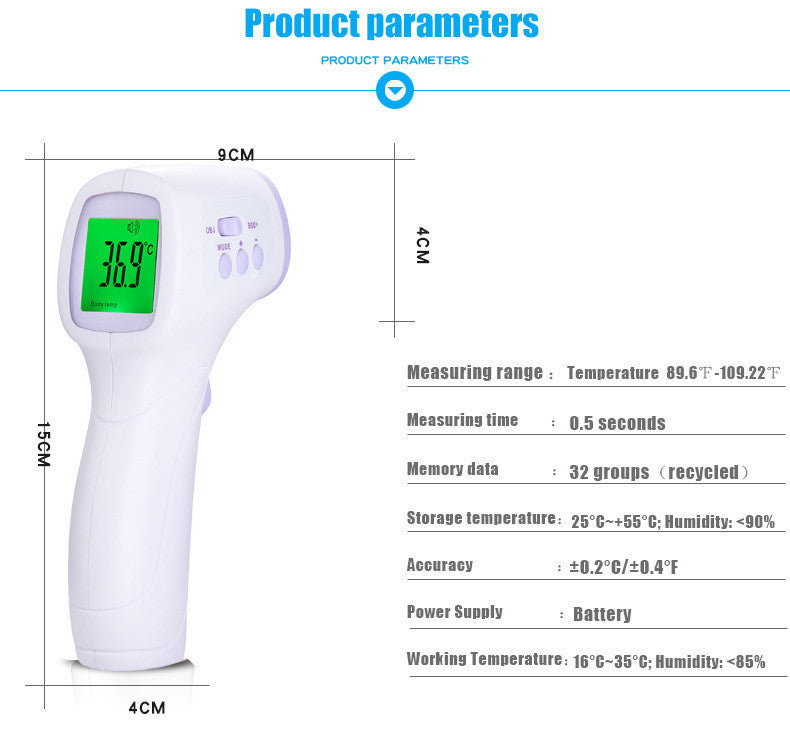 Infrared Non-Contact Thermometer - Adventure Baby Gear