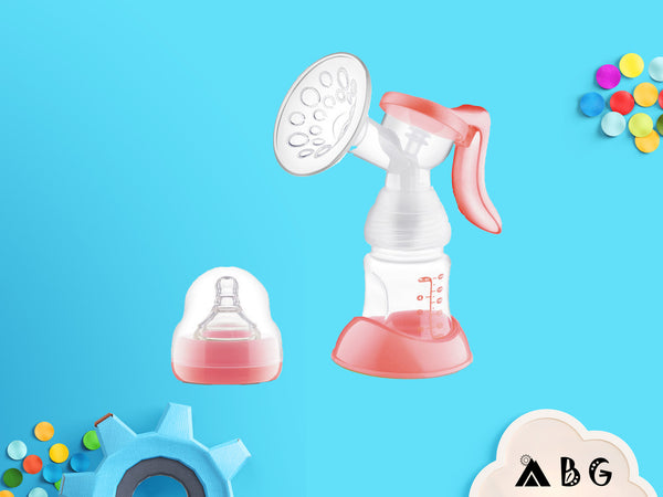 Manual Breast Pump with Bottle - Adventure Baby Gear
