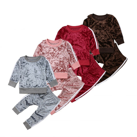 Ailynne Velvet Sweats Set (ASSORTED COLORS)