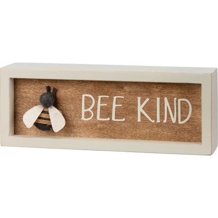 Box Sign - Bee Kind