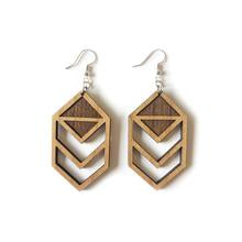 Wood Earrings - Chevron Cutout
