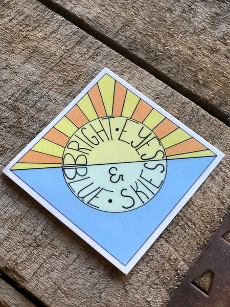109 Bright Eyes & Blue Skies Sticker