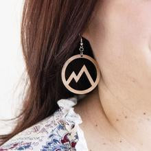 Wood Earrings - Mountain