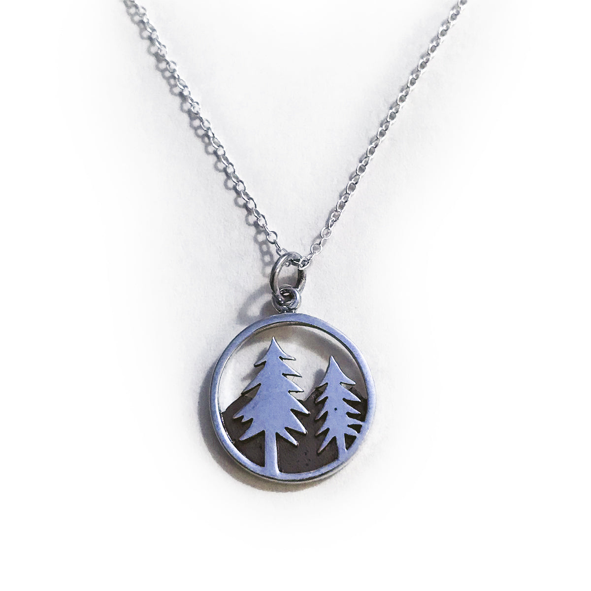 Donovan Grey Trees Necklace