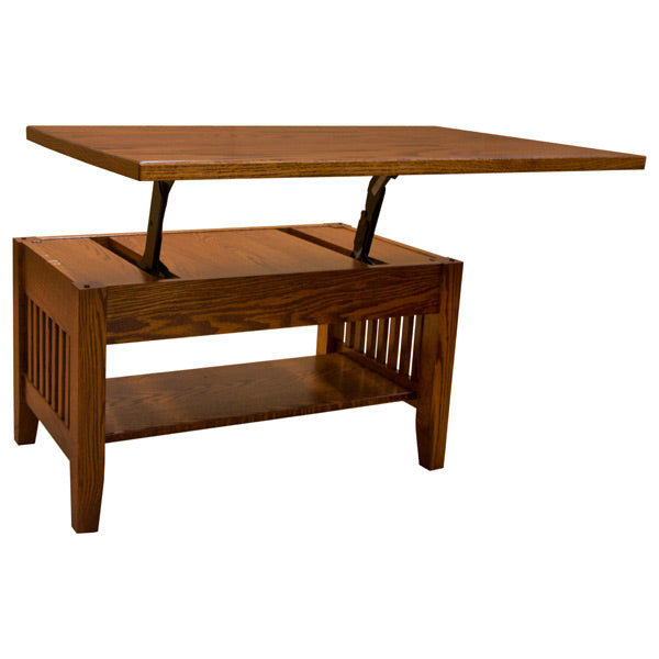 Prarie Mission Lift Coffee Table w/Drawer