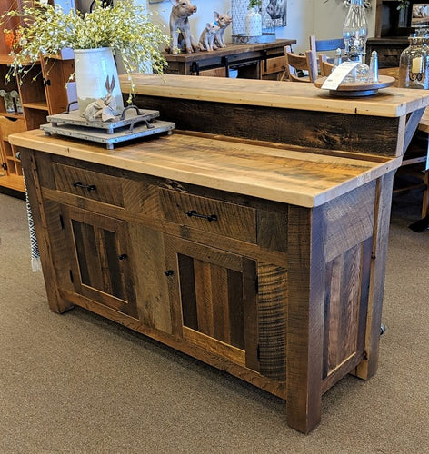 Reclaimed Barnwood Island Bar