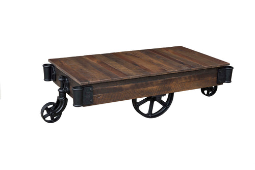 Urban Railroad Cart Coffee Table