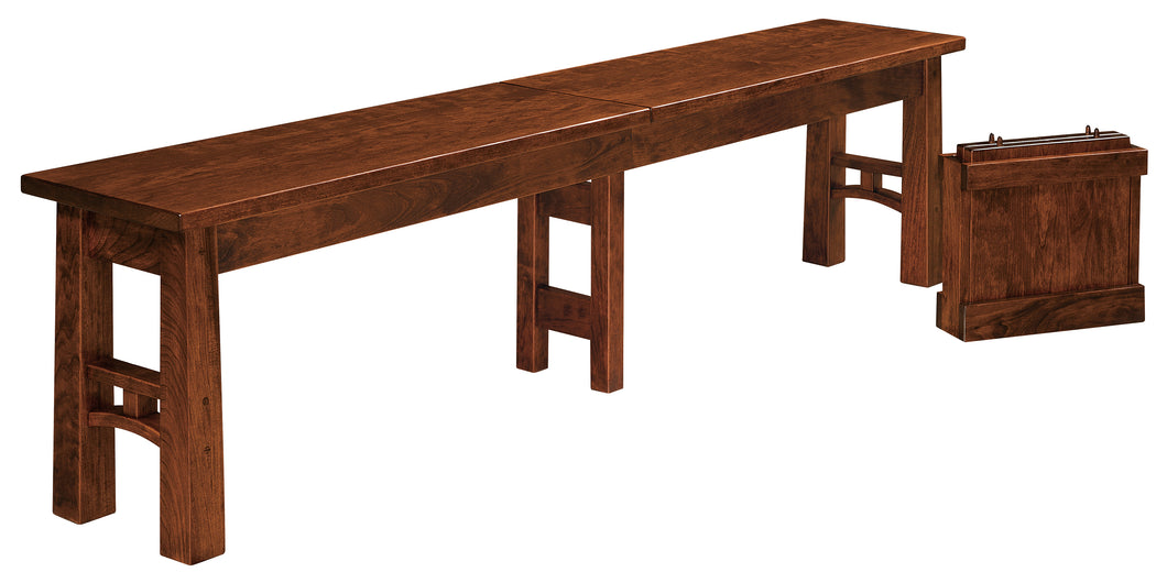 Bridgeport Dining Bench w/2 Self Storing Leaves