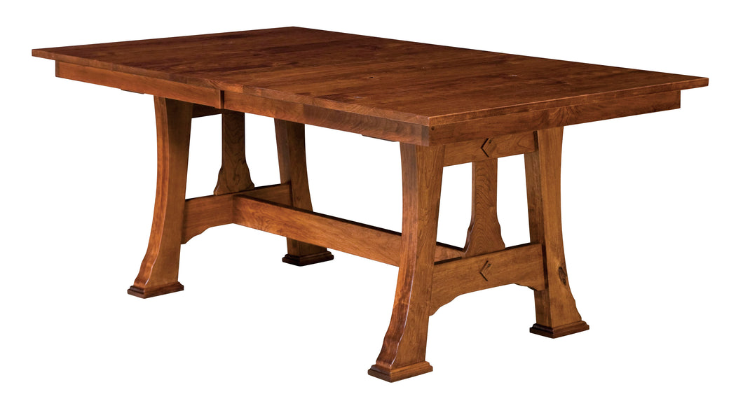 Cambridge Trestle Table w/2-Self Storing Leaves