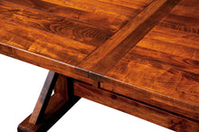 Chesapeake Trestle Table w/2-Self Storing Leaves