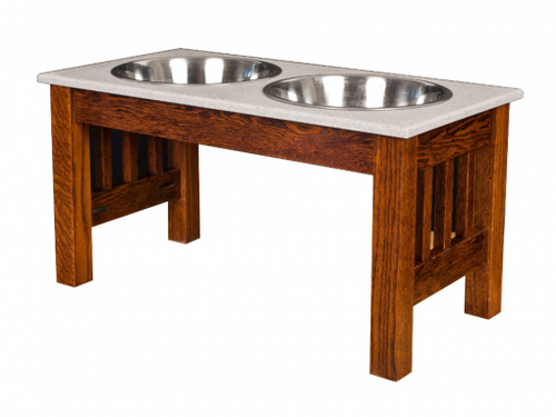 Pet Feeder- Extra Large Double Dinner Bowl