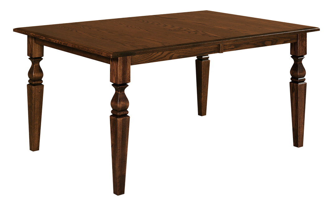 Fremont Leg Dining Table w/2-Self Storing Leaves