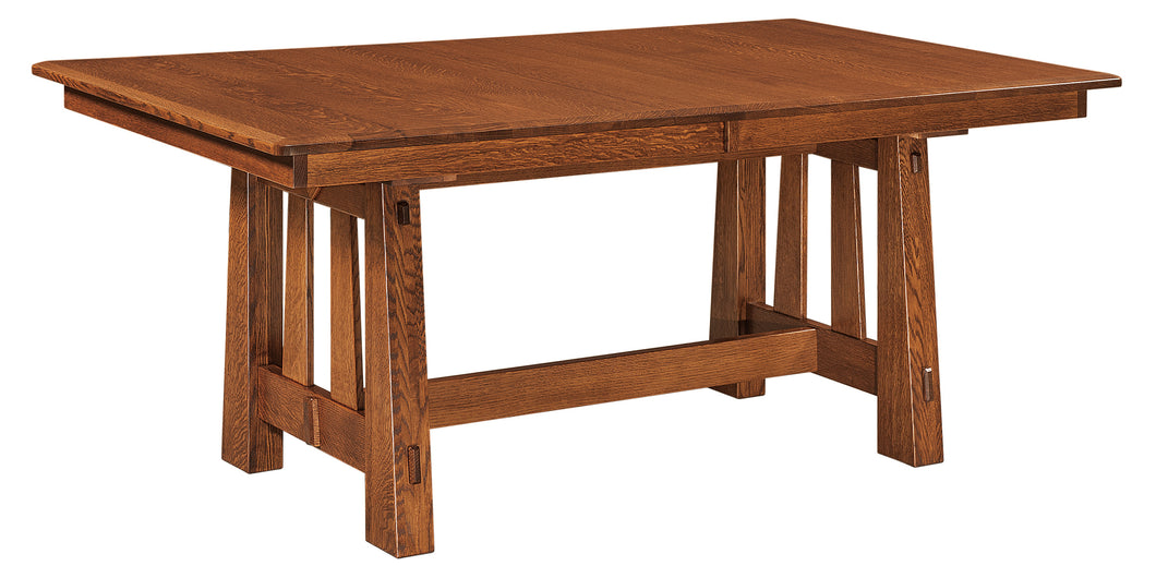 Fremont Trestle Table w/2-Self Storing Leaves