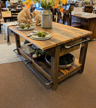 Reclaimed Barnwood Island Buffet/Bar