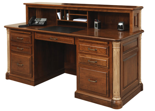 Jefferson Executive Desk w/Privacy Cubby Unit