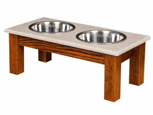 Pet Feeder- Medium Double Dinner Bowl