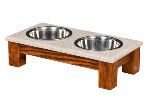 Pet Feeder- Small Double Dinner Bowl