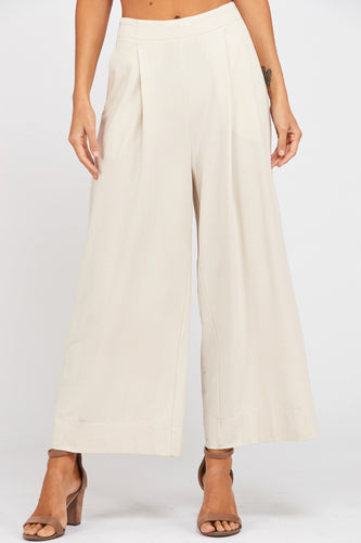 Shell Pleated Wide Leg Pants
