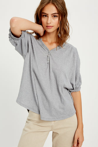 Emory Ruched Sleeve Top