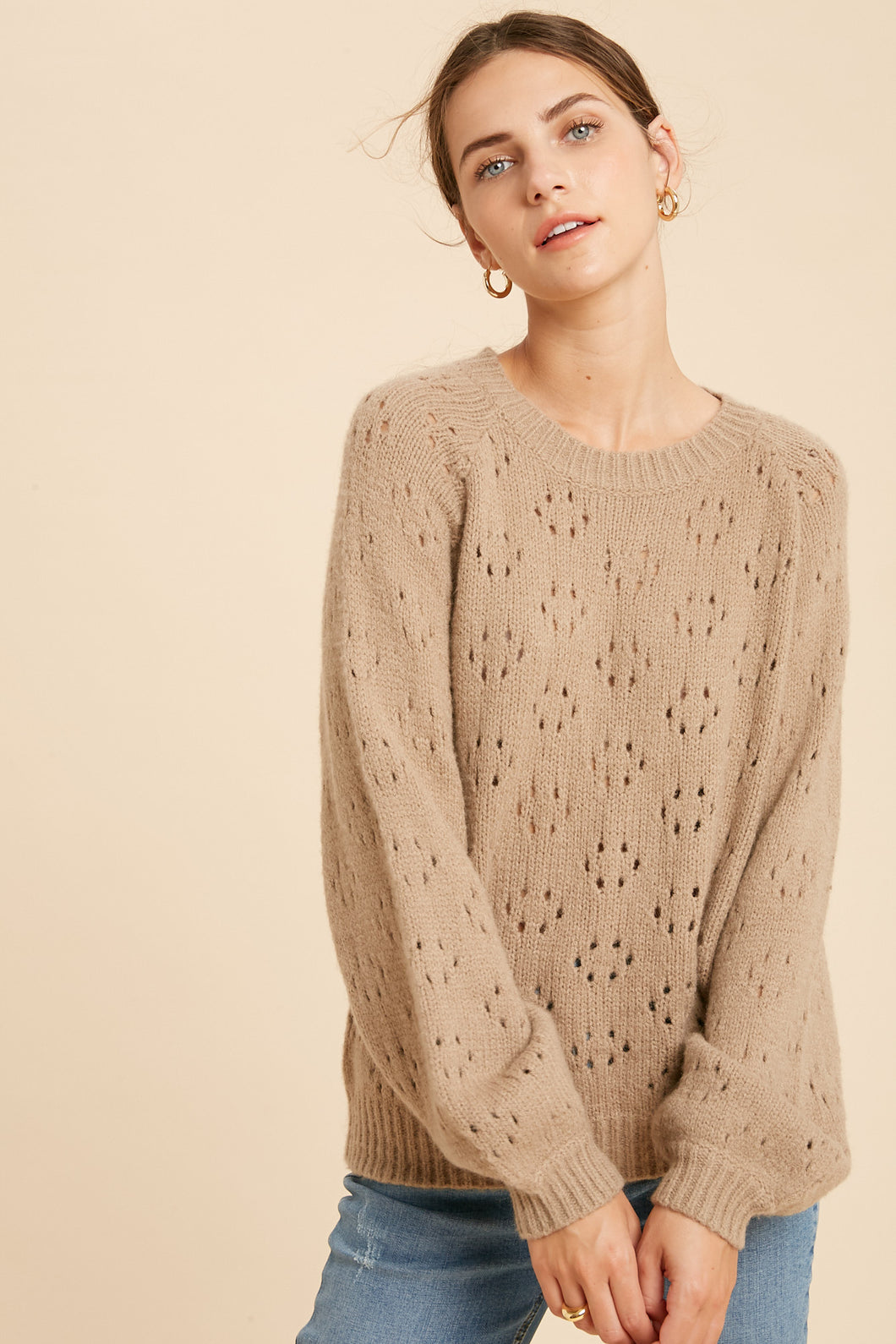 Alison Balloon Sleeve Sweater ** Pre-Order**