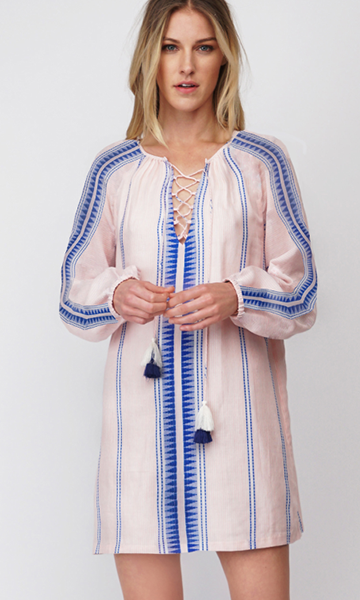 Casi Yarn Dye Shirt Dress