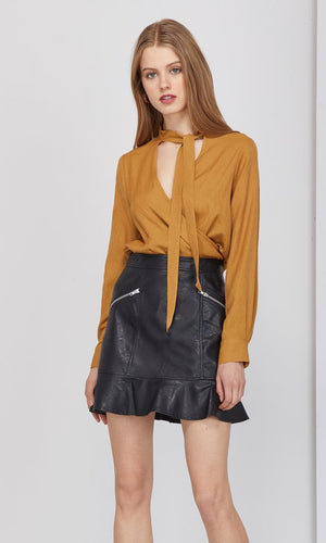 Spencer Vegan Leather Skirt