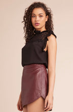 Conrad Leather Mini Skirt - Bordeaux
