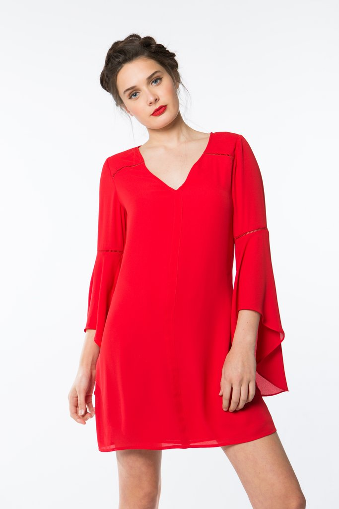 CROSBY by Mollie Burch Hayley Dress - Baroque Red