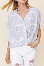 Keeley Abstract Print Button Down Top