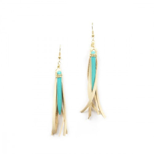 Deerskin Tassel Earrings