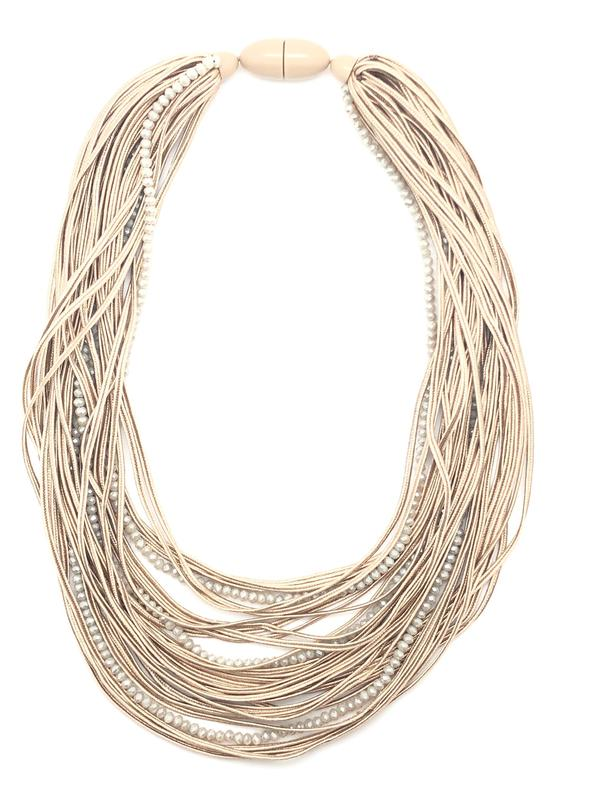 Silk Strand Necklace - Natural