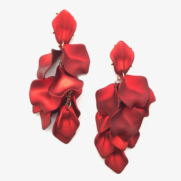 *Pre-order* Hampton Petal Earrings - Red