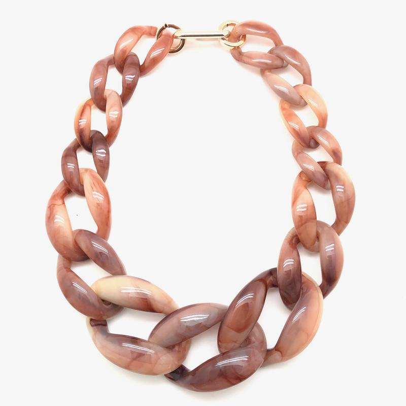 Abby Necklace - Brown