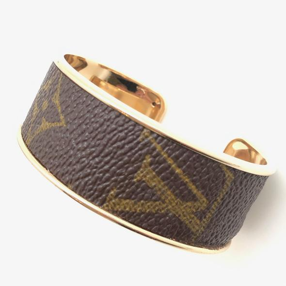 Repurposed LV Cuff Bracelet
